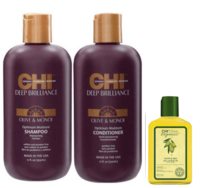 Акция Deep Brilliance Hydration Duo + CHI Organics Olive & Silk Hair and Body Oil