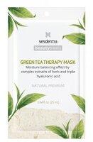 Увлажняющая маска для лица с экстрактом зелёного чая / Sesderma Beauty Treats Green Tea Therapy