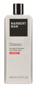 Средство по уходу за волосами и телом 2 в 1 / Marbert Man Classic Sport Hair & Body Wash