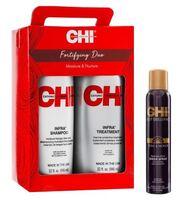 Набор CHI Fortifying Duo + Спрей-блеск для волос Deep Brilliance