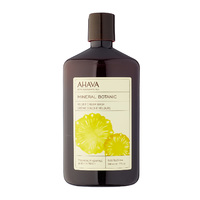 Мягкий крем для душа ананас/персик / Ahava Mineral Botanic Cream Wash Pineapple and White Peach
