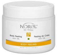Пилинг для тела в виде гелеобразной эмульсии, содержит 10% молочную кислоту, рH 4,5 / Norel Body peeling AHA 10%