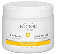 Очищающий цитрусовый сахарный пилинг для тела на основе овощного и фруктового масел / Norel Citrus sugar body peeling