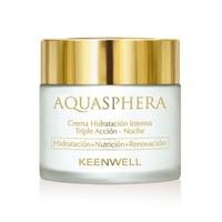 Ночной интенсивно увлажняющий крем тройного действия / Keenwell Aquasphera Intense Moisturizing Triple Action Cream-Night