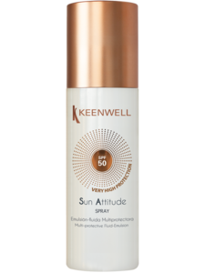 Мультизащитный спрей-флюид  для тела  SPF 50 / Keenwell Multi-protective fluid body emulsion spf 50 spray