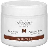 Гелеобразный шоколадный скраб для тела, содержит молотую шелуху какао бобов / Norel Chocolate body peeling