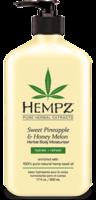 """Увлажняющее растительное молочко для тела """"Ананас-Медовая Дыня"""" / Hempz Sweet Pineapple & Honey Melon Moisturizer"""