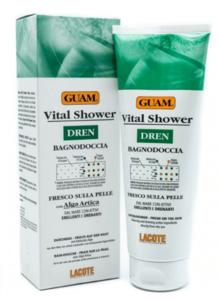 Соль - гель для душа освежающий с дренажным эффектом / Guam Vital Shower