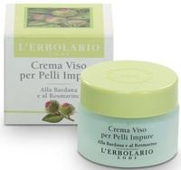 Крем для проблемной кожи с розмарином и репейником / L'Erbolario Crema Viso per Pelli Impure