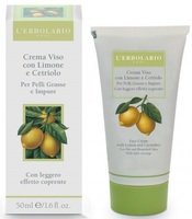 Крем с лимоном и огурцом с легким эффектом крем-пудры / L'Erbolario Crema Viso Al Limone e al Cetriolo