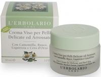 Крем с ромашкой, иглицей и лакричником / L'Erbolario Crema Viso per Pelli Delicate ed Arrossate