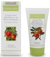 Крем увлажняющий с добавлением персиков и цветов апельсинового дерева / L'Erbolario Crema Viso