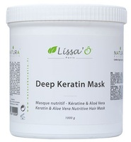 Кератиновая маска для волос с алое вера и маслом ши / Lissa'O Deep Keratin Mask Paris