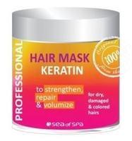 Маска с кератином для сухих, поврежденных и окрашенных волос / Sea of Spa Hair Mask Keratin