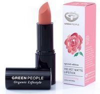 Матовая Помада Дамасская Роза / Green People Velvet Matte Lipstick Damask Rose