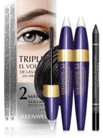 Набор тушь для ресниц 3в1 (2 шт) + Водостойкий карандаш для глаз / Keenwell Pack 2 Volumatic