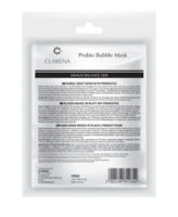 Очищающая пузырчастая биоцеллюлозная маска с пробиотиками / Clarena Immun Balance Line Probio Bubble Mask