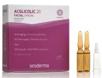 Acglicolic 20 Интенсивное увлажняющее, омолаживающее средство в ампулах / Sesderma Acglicolic 20 Ampoules