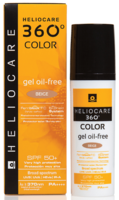 Тональный солнцезащитный гель с SPF 50+ / Cantabria Labs Heliocare 360º Color Gel Oil-Free Sunscreen SPF 50+