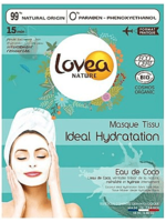 Увлажняющая маска для лица / Lovea Ideal Hydration Organic Coconut Fabric Face Mask