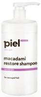Восстанавливающий шампунь для поврежденных волос / Piel Cosmetics hair care MACADAMI restore shampoo